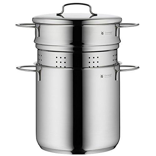 WMF Mini Nudeltopf mit Metalldeckel und Einsatz, klein, 18 cm, 3,0 l, Cromargan Edelstahl poliert, Induktion, stapelbar, ideal für kleine Portionen oder Singlehaushalte Wmf Pasta