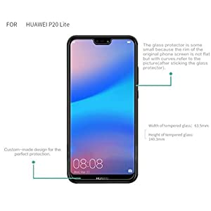 Jump Start™ Huawei P20 LITE Screen Protector, Huawei P20 Lite Tempered Glass Screen Protectors 3D Touch 0.25mm Screen Protector Glass for huaweip20 lite Work with Most Cases 99% Touch Accurate