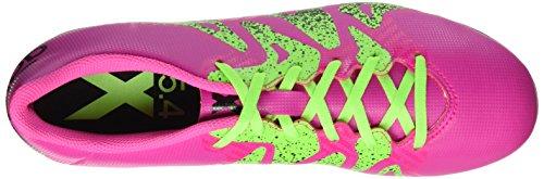 adidas X 15.4 Fxg, Chaussures de Football Homme Rose (Shock Pink/Solar Green/Core Black)