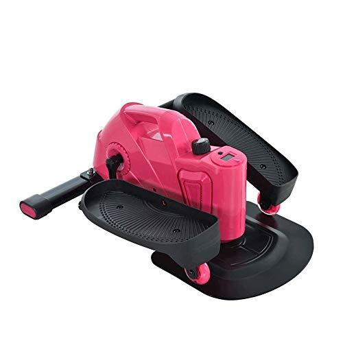 Hammer Inicio Paso a Paso, Mini Jogging elíptica Cinta de Correr, Silencio Pequeño Equipo de la Aptitud (Color : Pink)