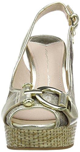 Donna Piattaforma Moda In Della Sandali Pala Paolina Della peltro D'argento PFXwFq0R