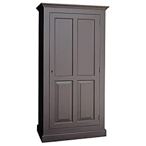 armoire troite pin massif 2 portes penderie et tag re. Black Bedroom Furniture Sets. Home Design Ideas