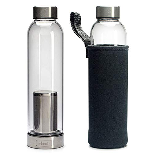 Primula Brew Travel Flasche kalt Brew Kaffeemaschine mit Filter und isolierenden Ärmel, 20oz, Klar -