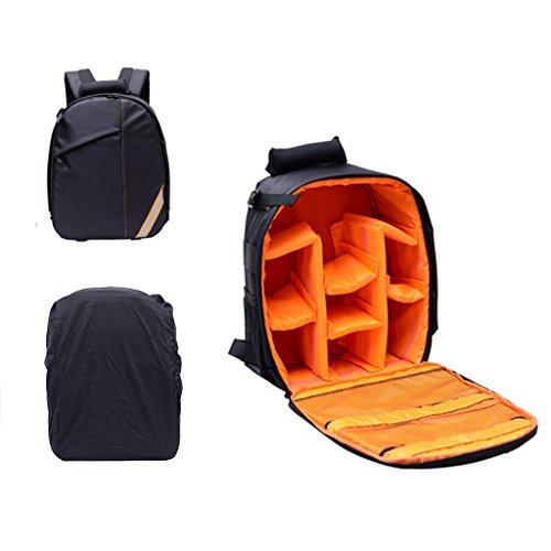 DoGeek Kamerarucksack Fotorucksack Kameratasche Wasserdicht Laptop Camera Bag mit Spiegelreflex Kamera Tasche für Leica Fujifilm Canon Nikon Sony Samsung Casio Panasonic Olumpus Pentax(14 Zoll) - Kamera-tasche Leica
