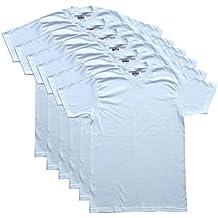 Kirkland Signature 6 Pack hombres camisetas de cuello redondo 100% algodón Tagless