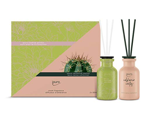 ipuro limited edition Raumduft-Set rooftop garden & california cactus, 100 ml