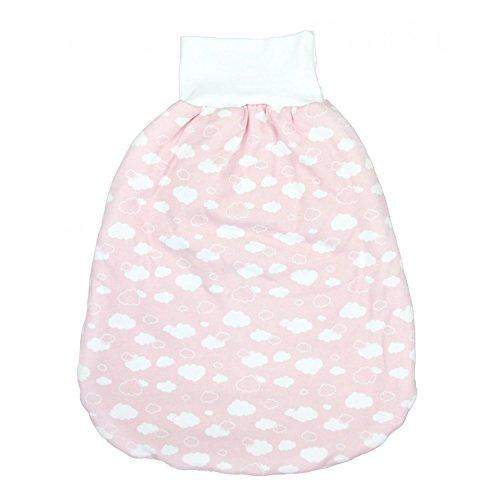 TupTam Baby Unisex Strampelsack mit breitem Bund Wattiert, Farbe: Wolken Rosa, Größe: 6-12 Monate