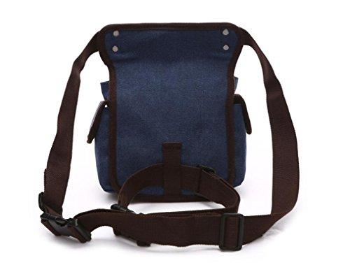 &ZHOU Borsa di tela, multi-funzione doppio uso borsa a tracolla, borse di petto, borsa del computer per il tempo libero, uomini e donne, borsa da viaggio, borsa di tela , khaki deep blue
