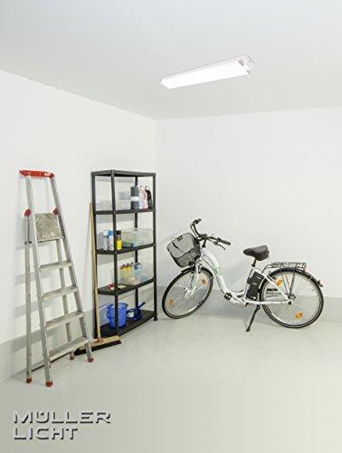 MÜLLER-LICHT LED Werkstattleuchte Basic 1,20 m 2-Flammig für Wand-und Deckenmontage, 5000 Lm, Aluminium, 60 W, Weiß, 120 x 7.5 x 5.1 cm - 3