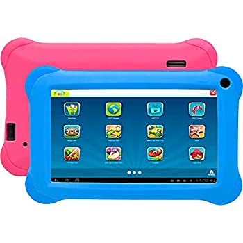Denver TAQ-70352 BLUEPINK Tablet PC (Intel Pentium KA, 1 GB de RAM, SO Android 8.1GO, Funda Rosa y Azul