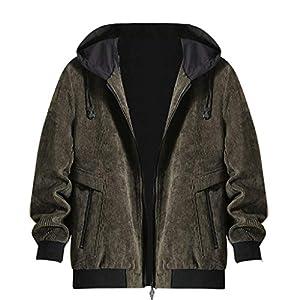 Oasics Herrenjacke Mantel Herbst und Winter Mode Lässig einfarbig Hoodie Reißverschluss Tasche Jacke M-4XL
