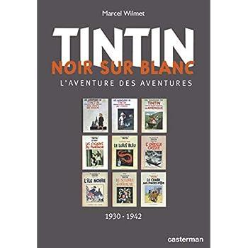 Tintin noir sur blanc