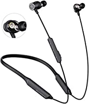 SOUNDPEATS Dual Dynamic Drivers Bluetooth Headphones, Neckband Wireless Earbuds with Crossover, APTX HD Audio