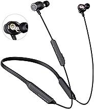 سماعات رأس وأذن لاسلكية رياضية من ساوند بيتس - تصميم حول الرقبة - تقنية بلوتوث اصدار 5.0 - محرك ديناميكي ونقل