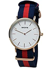 Skone 6165-man-3 Analog White Dial Denim Strap Wrist Watch / Casual Watch - For Men's