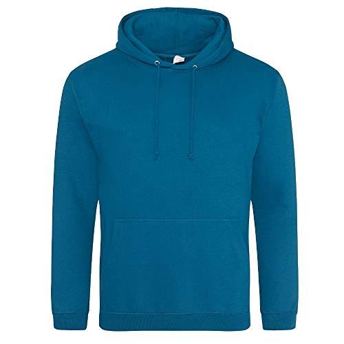 Just Hoods - Unisex College Hoodie/Deep Sea Blue, XS