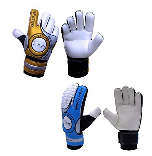Die Sportskanone Kinder Junioren Fingersave Torwarthandschuhe mit Tasche (Blau, 5)