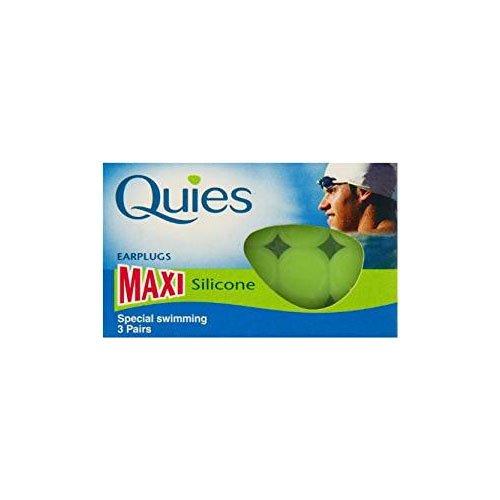 Quies Paar Maxi Silikon Ohrstöpsel-Pack von 3 (Quies Ear Plugs)