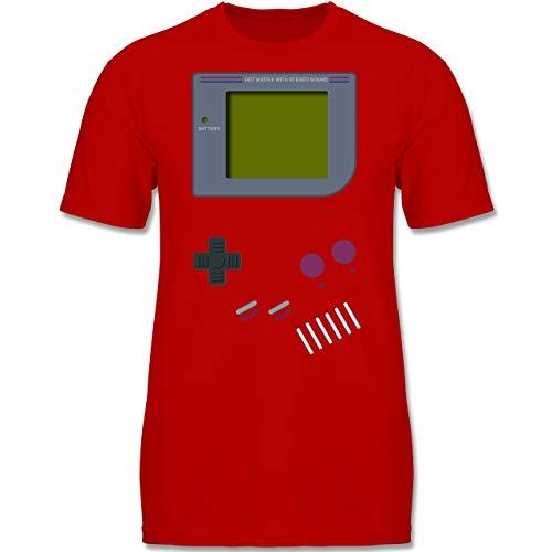 Up to Date Kind - Gameboy - 122-128 (7-8 Jahre) - Rot - F140K - Jungen T-Shirt