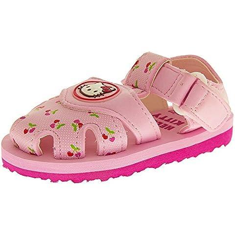 Hello Kitty Sangatta Bambina Cinturino Velcro Sandali Della Punta Chiusa