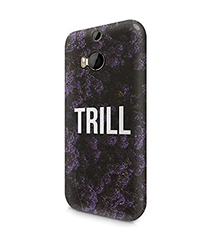 Trill Dark Purple Wild Flower Pattern Durable Hard Plastic Snap On Phone Case Cover Shell For HTC One M8 Coque Housse Etui