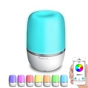 Smart Nachttischlampe, ARILUX Intelligente Tischlampe für Kinder Kompatibel Alexa, Google Home, APP Kinderzimmer Nachtlicht 16 Millionen Farben Wifi kontrolliert durch Smartphone