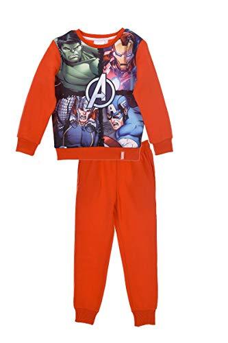 Marver avengers - tuta felpata coordinato sportivo set 2pz felpa e pantalone full print - bambino - novità prodotto originale 9601hr [rosso - 6 anni - 116 cm]
