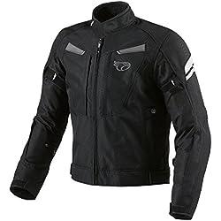JET Chaqueta de moto motocicleta impermeable con armadura multi funcional negro