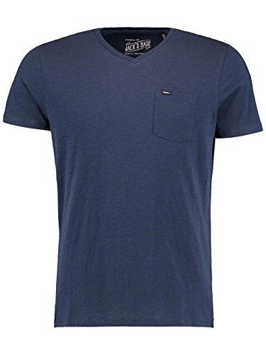O' Neill Jacks base Streetwear Scollo a V Tees Shirts, Uomo, Jacks base v-neck, blu - ink blue, XS blu - ink blue