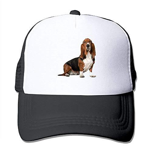 deyhfef Basset Hound Dog 6 Adjustable Sports Mesh Baseball Kappen Trucker Cap Sun Hüte Unisex33 -