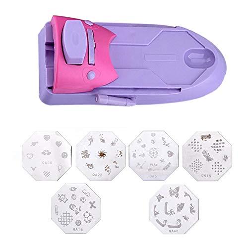 Affeco stampa modello unghie nail art Printer Stamper Machine Tools