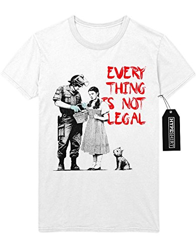 T-Shirt Every Thing Is Not Legal D347762 Weiß