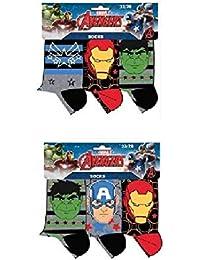 Suncity Pack 6 pares de calcetines multicolor diseño AVENGERS - LOS INVENCIBLES (marvel) num