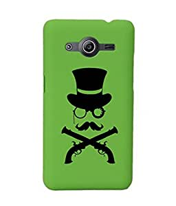 KolorEdge Back Cover For Samsung Galaxy Core II - Green (2031-Ke15186SamCore2Green3D)
