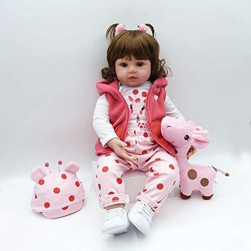 Nicery Reborn Baby Doll Rinato Bambino Bambola Vinyl Molle del Simulazione Silicone 18 Pollici 45cm Vivido Realistico Ragazzo Ragazza Bambina Giocattolo per 3 Anni + SH45C258W