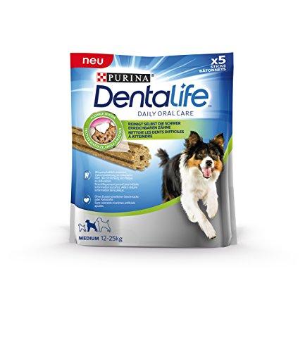 Purina DentaLife Medium Tägliche Zahnpflege-Snacks für mittelgroße Hunde, 115 g