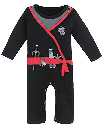 Mombebe Bébé Garçon Ninja Costume Romper (3-6 Mois, Pirate)