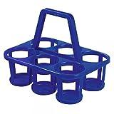 2x Flaschenträger Flaschenhalter Flaschenkorb für 6 Flaschen aus Kunststoff Grau oder Blau