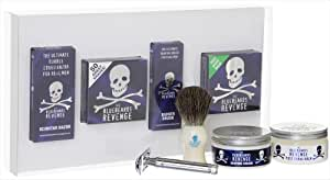 Bluebeards Revenge Shaving Cream, Brush, Scimitar razor, Balm