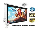 Inlight 120 inches Diagonal, UHD-3D-4K Ready Technology Motorised Projector Screen 4:3 Aspect Ratio