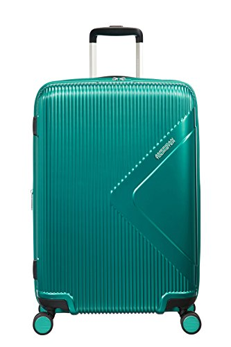 American Tourister Modern Dream, Spinner Espandibile Valigia, 68.5 cm, 81 L, Verde (Emerald Green)