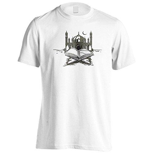 Moschea con regalo sacro libro Uomo T-shirt g281m White