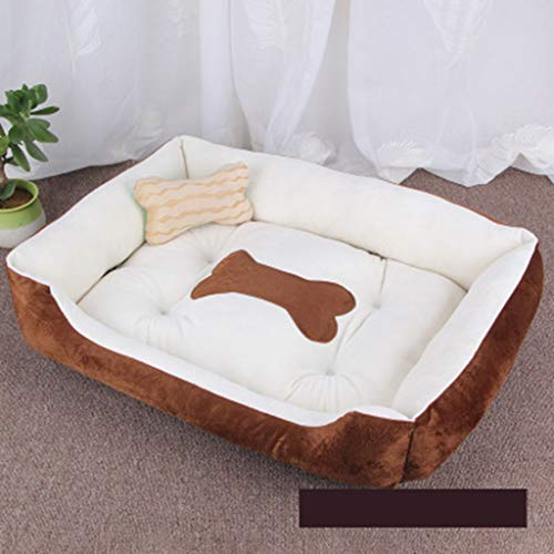 HUOQILIN Herausnehmbare Waschbare Haustiernesthundebett Matte Katzentoilette Hundehütte Hundehütte Katze Cattery Schlafsofa Isomatte Pet Supplies (Color : Brown, Size : XXL)
