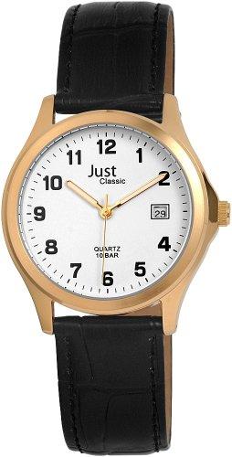Just Watches 48-S11025-GD - Orologio da polso da uomo, cinturino in pelle colore nero