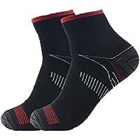 Bobury 1 par unisex del pie calcetines de compresión Anticansancio fascitis plantar del talón Spurs dolor Calcetines de punto para mujeres de los hombres