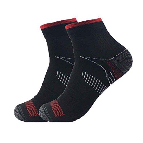 busirde 1 Paar Unisex Fuß Kompressionssocken Anti-Fatigue Fersensporn Fersensporn Schmerz Socken Stricken für Männer Frauen