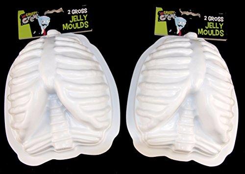 ITP 4 x Halloween Party Gelee-Formen - Gruesome Body Parts 4, Brustkorb