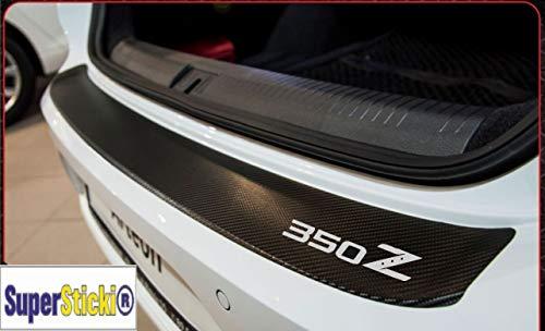 SUPERSTICKI Nissan 350Z Carbon Carbonfolie Carbon Aufkleber Folie Optic Heckaufkleber ca 140cm+Logo Farbauswahl Rennsport Racing Tuning (350z Carbon)