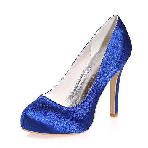L@YC Tacchi alti Da Donna In Seta Chiusura / Partito / Partito Notte E altri Colori 6915-03a Blue