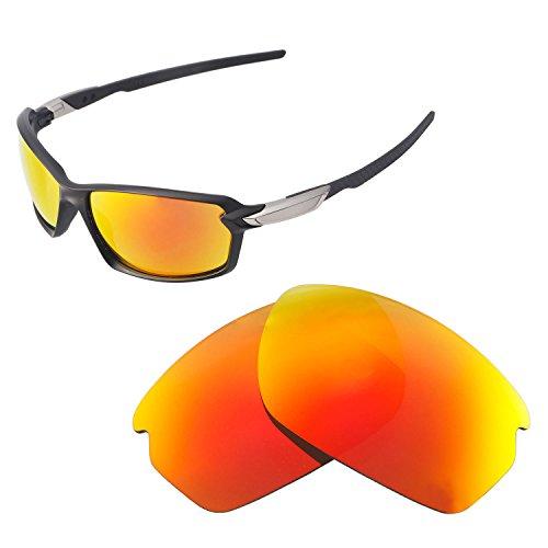 Walleva Ersatzgläser für Oakley Carbon Shift Sonnenbrille - Verschiedene Optionen erhältlich, Unisex-Erwachsene, Fire Red Mirror Coated - ISARC Polarized, Einheitsgröße